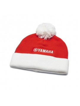 Cappellino in maglia natalizio con pon pon per adulti