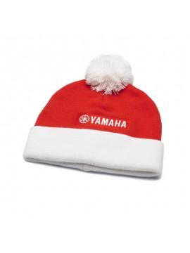 Cappellino in maglia natalizio con pon pon per bambini